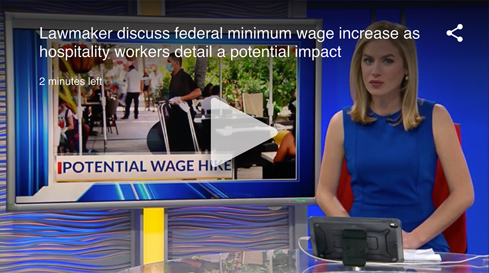 Lawmaker discuss federal minimum wage increase as hospitality workers detail a potential impact