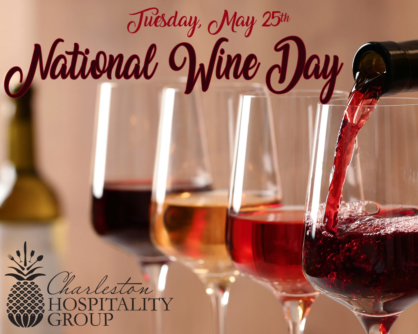 Wine & Dine All Day at Charleston Hospitality Group for National Wine Day