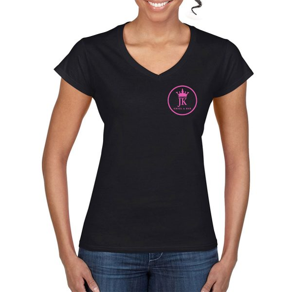 Every King Needs A Queen V-Neck T-Shirt (Black) - front