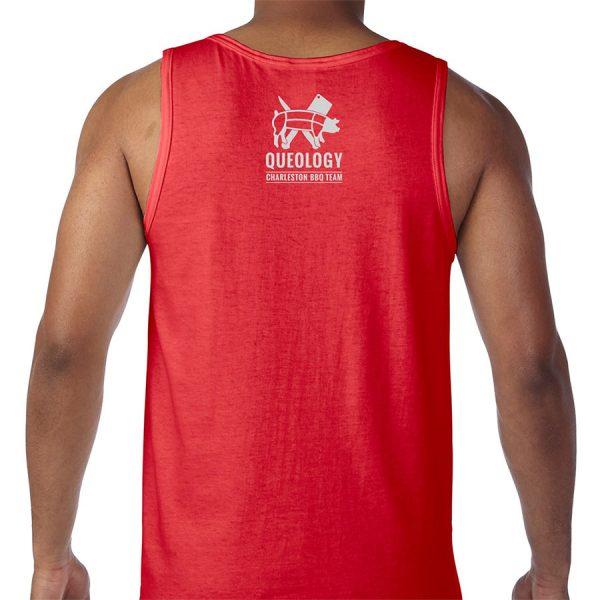 Queology Piggy Stardust Tank - Red, Back