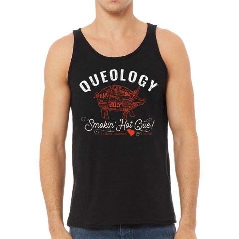 Queology Smokin Hot Que Tank - Black, Front