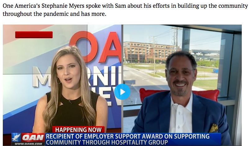 Sam Mustafa, Charleston Hospitality Group Featured on OAN News
