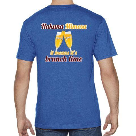 Toast! Hakuna T-shirt - Blue, Back