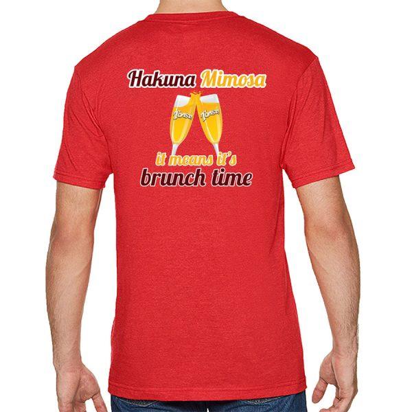 Toast! Hakuna T-shirt - Red (back)