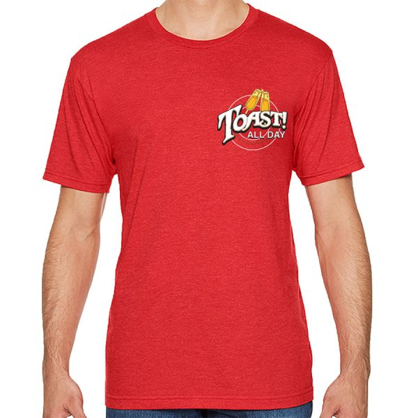 Toast! Hakuna T-shirt - Red (front)