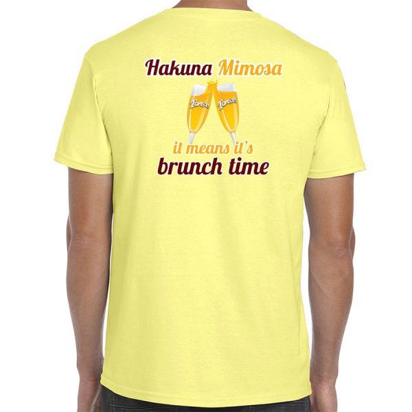 Toast! All Day Hakuna Mimosa T-Shirt (Pale Yellow) back