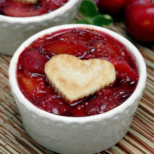 Plum pie hearts