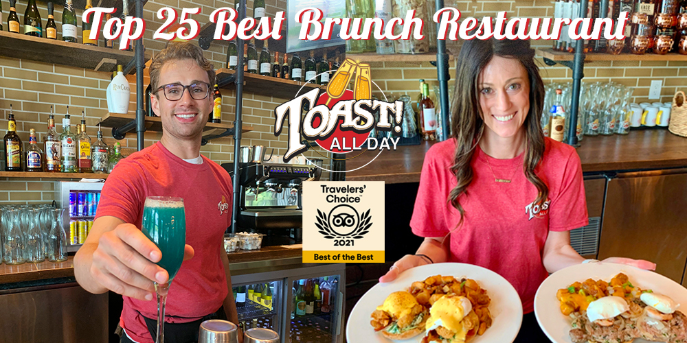 Toast All Day Recognized As a Top Brunch Spot in the Country